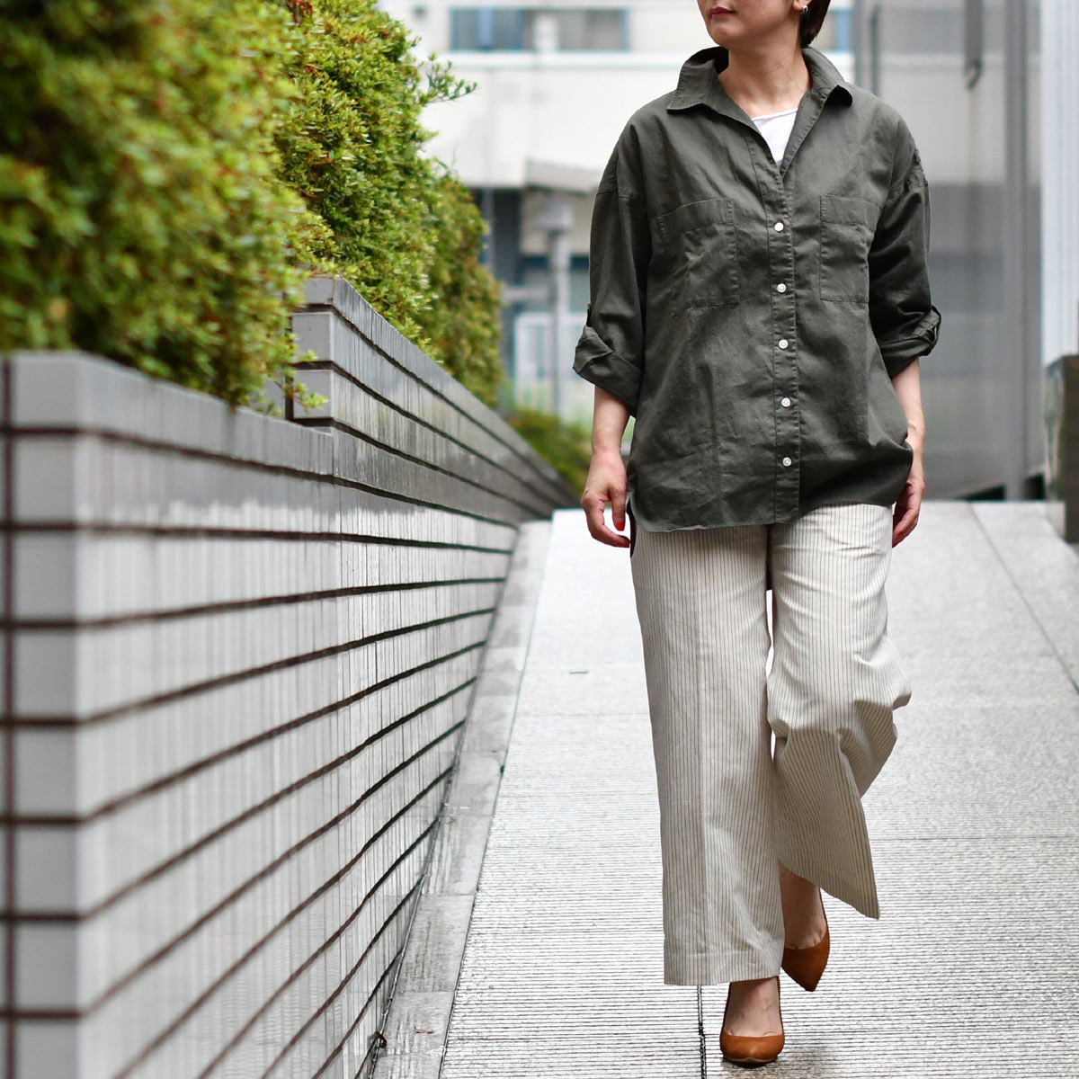Finamore【フィナモレ】ロールアップビッグシルエットシャツ
